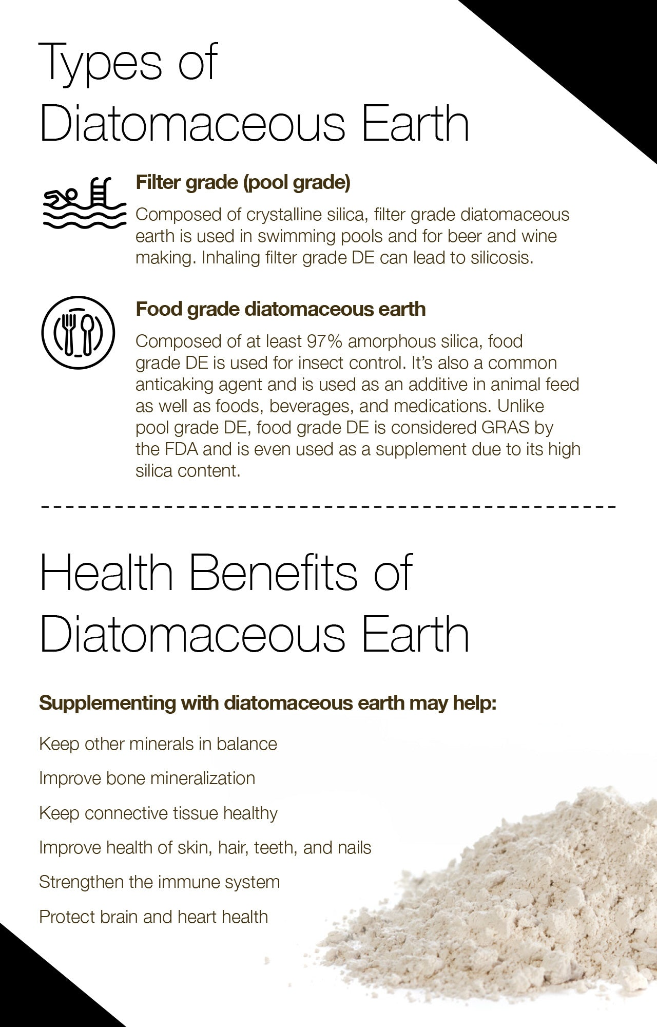 Types of Diatomaceous Earth