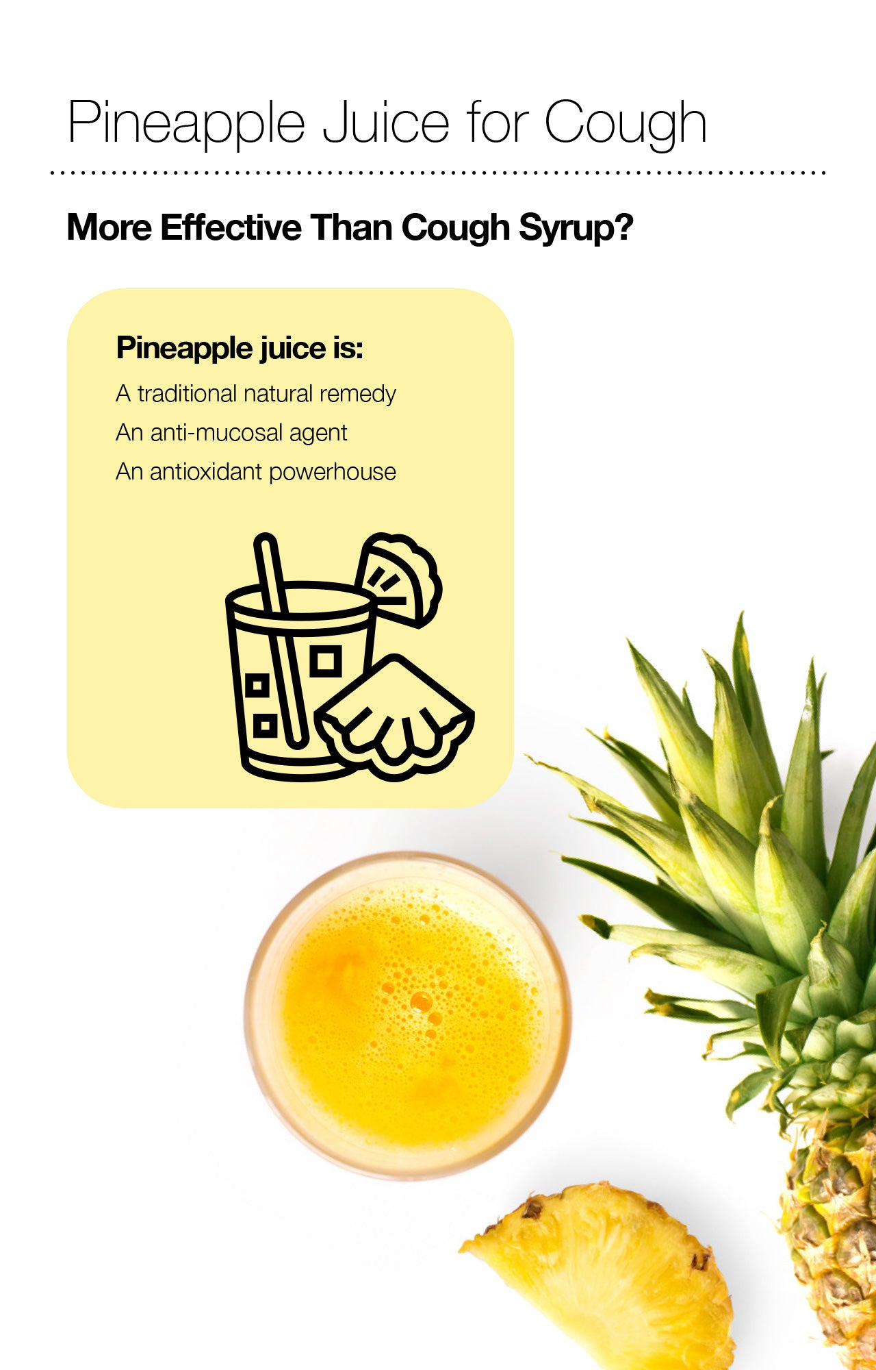 Pineapple Juice for Cough: More Effective Than Cough Syrup?