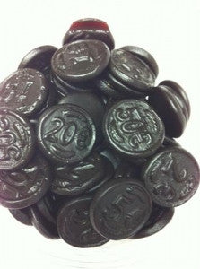 Sugar free Dutch Licorice Coins