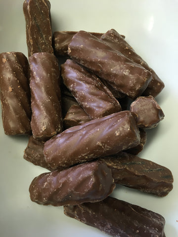 Chocolate (Milk) coated licorice logs