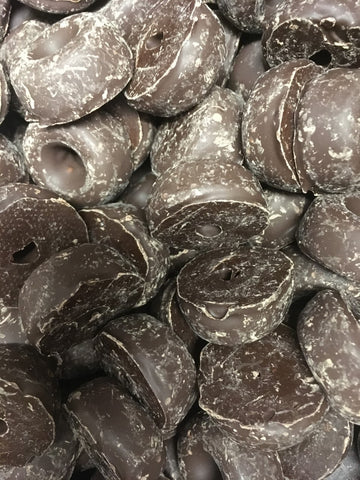 Chocolate (Dark) Coated Aniseed Rings - GLUTEN FREE
