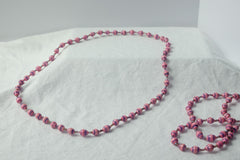 Long necklace - pinks