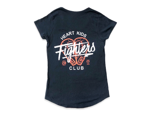 Heart Kids Fighters Club 2017 Navy T-Shirt - Womens