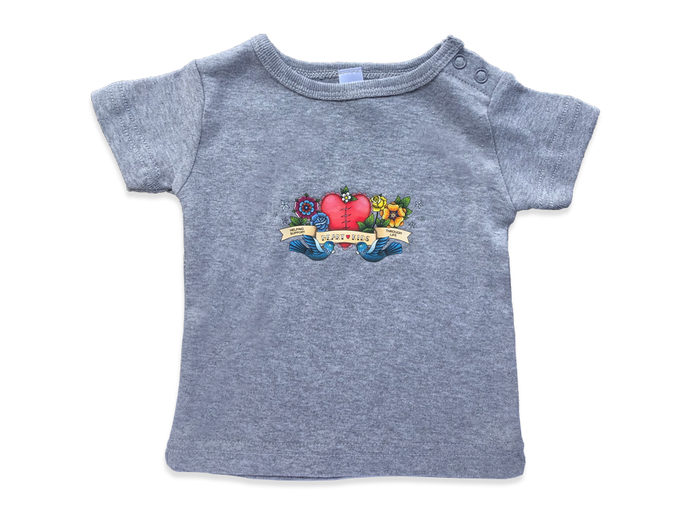 Heart Kids Grey Wee Tee