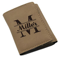 Custom Personalized Trifold Wallet Gift for Men, Him, Husband, Groomsmen - Tri Fold Wallet - Engraved for Free