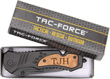 TAC-FORCE TF606WS Engraved Tactical Assisted Opening Pocket Knife, Christmas Gifts For Men, Fathers Day Gifts, Perfect Personalized for Him, Groomsmen Gifts & Anniversary Gifts for Men, Black