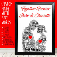 Personalised Couple Together Anniversary Special Gifts For Him Her 1st 5th 30th