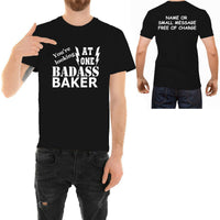 Badass Baker T-shirt Funny Ideal Father day Birthday Gift for Him