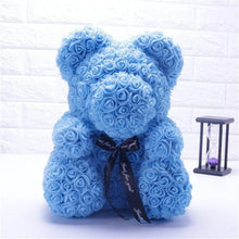 Load image into Gallery viewer, Blue Rose Bear