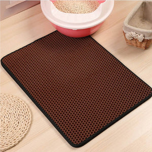 Brown Color Cat litter Mat