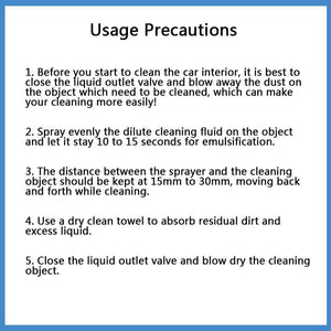 Instructions To Use High Pressure Cleaning Tool
