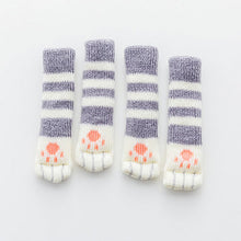Load image into Gallery viewer, Cat Paw Chair Socks (4 Pack)