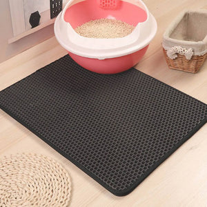 Gray Color Cat litter Mat