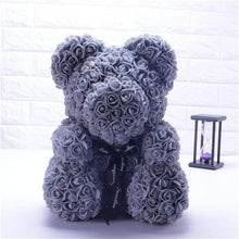 Load image into Gallery viewer, Grey Rose Bear