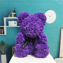 Load image into Gallery viewer, Purple Rose Bear