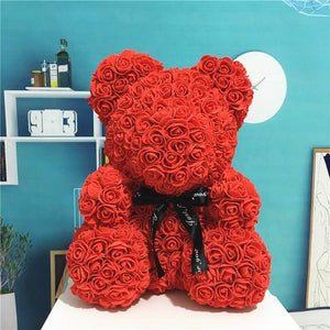 Red Color Giant Rose Bear