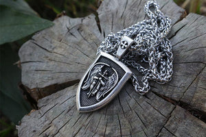 St.Michael Pendant With Steel Chain