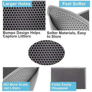 Brief description of cat litter mat