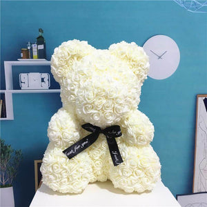 Cream Color Rose Bear