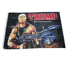 Load image into Gallery viewer, Rambo Trump Flag