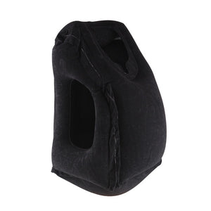 Black Color Inflatable Travel Pillow