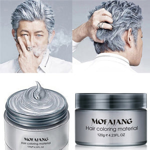 Silver hair paint wax