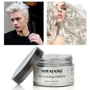 White color temporary hair paint wax