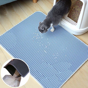 Blue Color Cat Litter Mat