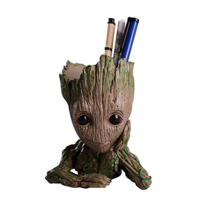 Groot planter as pen stand