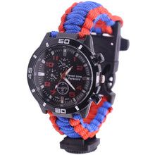 Load image into Gallery viewer, 5 in 1 Outdoor Survival Watch Paracord Bracelet And Emergency Survival Tools