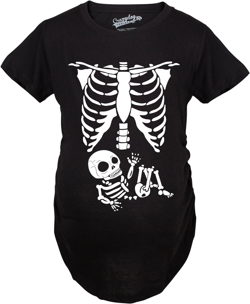 Maternity Skeleton Baby T Shirt Halloween Costume Funny Pregnancy Tee For Mothers