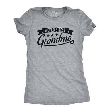 Womens Worlds Best Grandma Tshirt Funny Mothers Day Grandmother Tee For Ladies