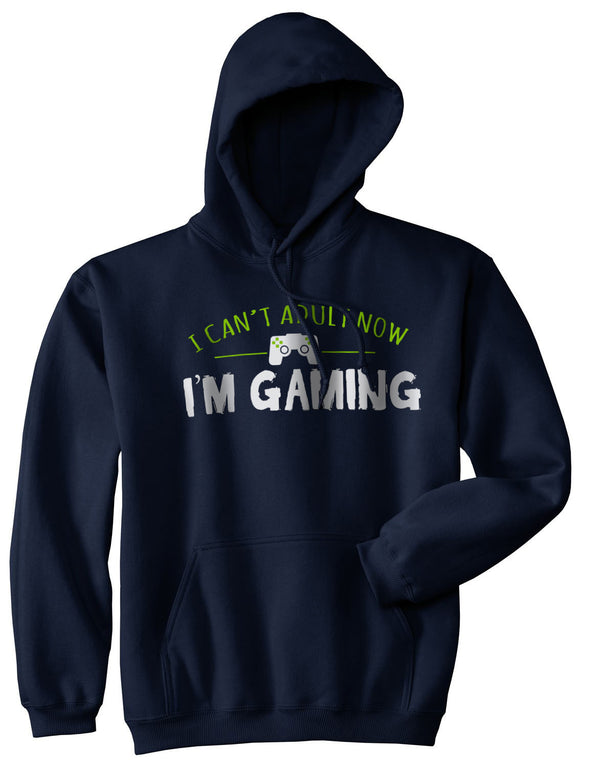 I Cant Adult Im Gaming Funny Video Game Sweater Cool Gamer Hoodie