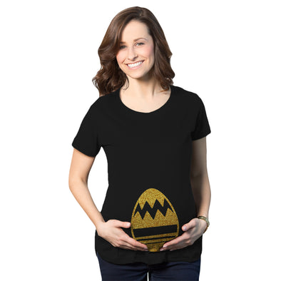 Maternity Golden Easter Egg Bump Funny Baby Pregnancy Announcement T Shirt