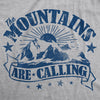 Womens The Mountains Are Calling Cool Sunset Vintage Rockies Funny Hiking Nature T shirt