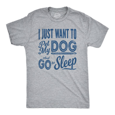 Pet My Dog and Go to Sleep Men's Tshirt