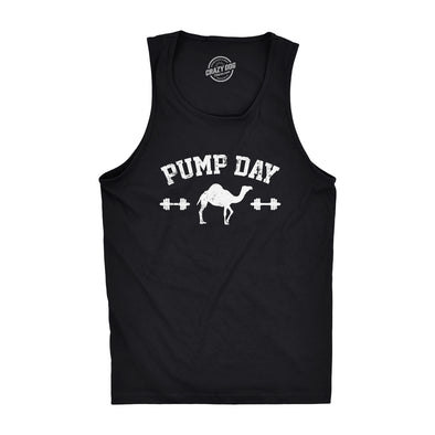 Mens Pump Day Funny Camel Hump Day Workout Sleeveless Fitness Tank Top