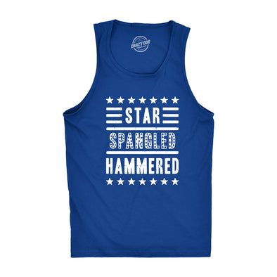 Mens Star Spangled Hammered Funny Shirts Workout Sleeveless Fitness Tank Top