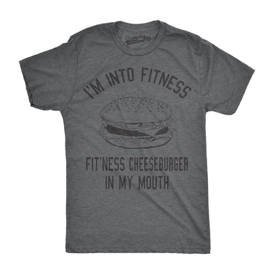 Fitness Cheeseburger In My Mouth Men's Tshirt