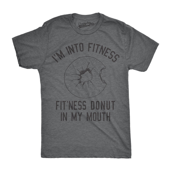Fitness Donut In My Mouth Men's Tshirt