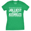 Womens Jolliest Bunch of A-Holes Tshirt Funny Christmas Sarcastic For Ladies