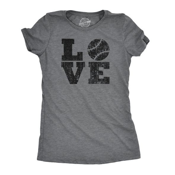 Womens LOVE Baseball Mama Funny Game Day Lover Cute Cool Gift T Shirt for Ladies