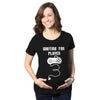 Maternity Waiting For Player 3 Funny Im Pregnant Shirt Announce Pregnancy Gamer T shirt