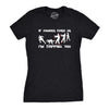 Womens If Zombies Chase Us I'm Tripping You Funny Sarcastic Halloween TShirt