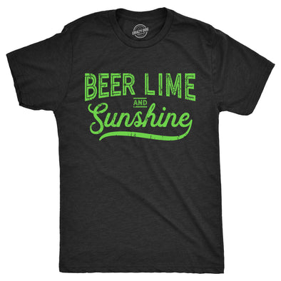 Mens Beer Lime And Sunshine Tshirt Funny Cinco De Mayo Summer BBQ Tee For Guys