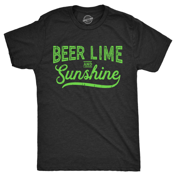 Beer Lime and Sunshine Men's Tshirt