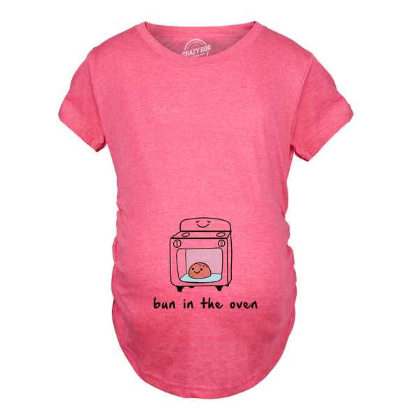 Maternity Bun In The Oven T shirt Funny Pregnancy Announcement New Baby Tee