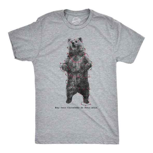 May Your Christmas Be Bear-Able Men's Tshirt