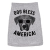 Dog Shirt Dog Bless America Shirt Funny 4th of July Patriotic Clothes For Puppy