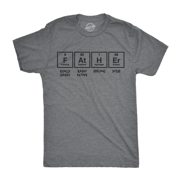 Father Periodic Table Men's Tshirt